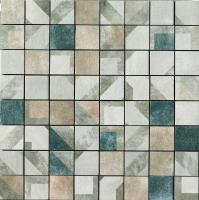 Mosaico Tessera MIX Decorato 5.7x5.7 AURORA/MALACHITE/ZAFFERANO 48x48
